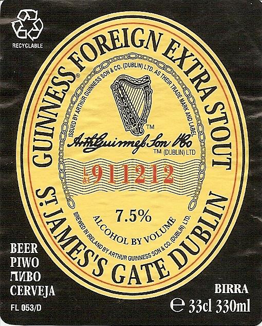 Guinness for Guinness beer in ireland